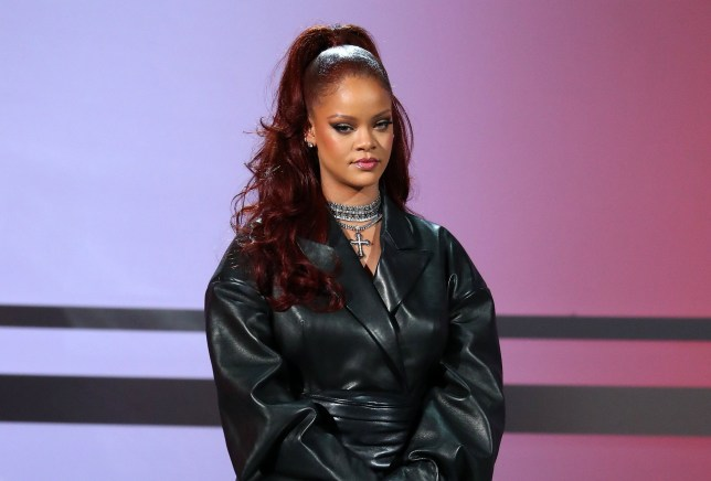 Rihanna appears onstage during the 2019 BET awards at Microsoft Theater in Los Angeles, California on June 23, 2019. (Photo by Jean-Baptiste LACROIX / AFP) (Photo credit should read JEAN-BAPTISTE LACROIX/AFP/Getty Images)