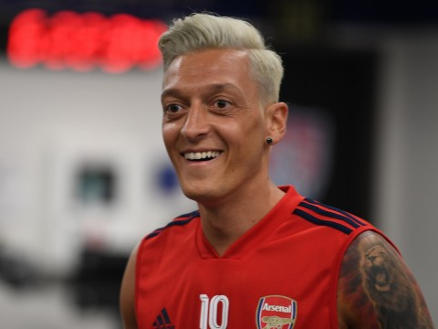 Pierre-Emerick Aubameyang likens Mesut Ozil to Megan Rapinoe as Arsenal midfielder reveals new hairstyle