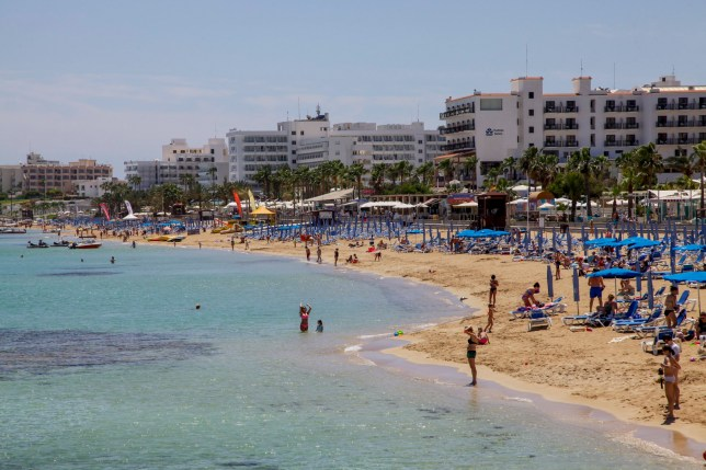 PROTARAS ,CYPRUS - APRIL 27: Panoramic view of Protaras promenade a predominantly tourist resort on April 27, 2016 in Protaras , Cyprus. Protaras has clear sky-blue waters and sandy beaches, the most well known of which is Fig Tree Bay. Building on the success of Ayia Napa, located about 10 km southwest, it has expanded into a modern holiday resort of considerable size with tens of high capacity hotels, hotel apartments, villas, restaurants, pubs and associated facilities. Being quieter than Ayia Napa and having less of a club scene, it has a reputation of catering more for family and Cypriot tourism. (Photo by Athanasios Gioumpasis/Getty Images)