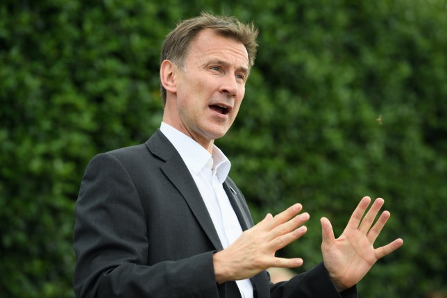 GERRARDS CROSS, ENGLAND - JULY 18: Foreign Secretary Jeremy Hunt speaks to members of the local community during a leadership campaign event on July 18, 2019 in Gerrards Cross, England. Boris Johnson and Jeremy Hunt are the remaining candidates in contention for the Conservative Party Leadership and thus Prime Minister of the UK. Results will be announced on July 23rd 2019. (Photo by Leon Neal/Getty Images)