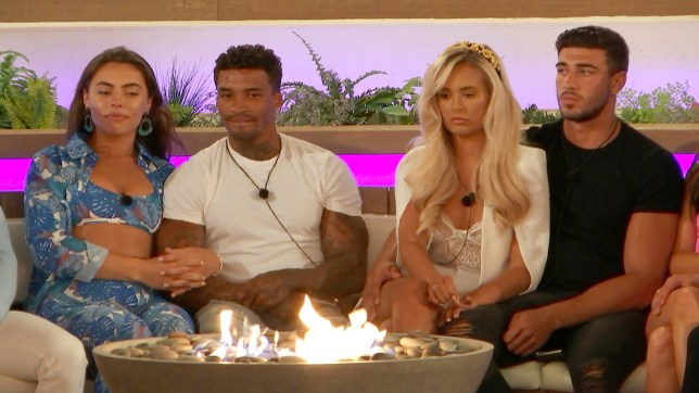 Love Island's Michael Griffiths, Francesca Allen, Tommy Fury and Molly-Mae Hague