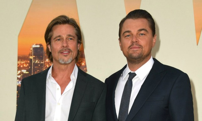 Brad Pitt and Leonardo DiCaprio attend the Once Upon A Time...In Hollywood Los Angeles Premiere