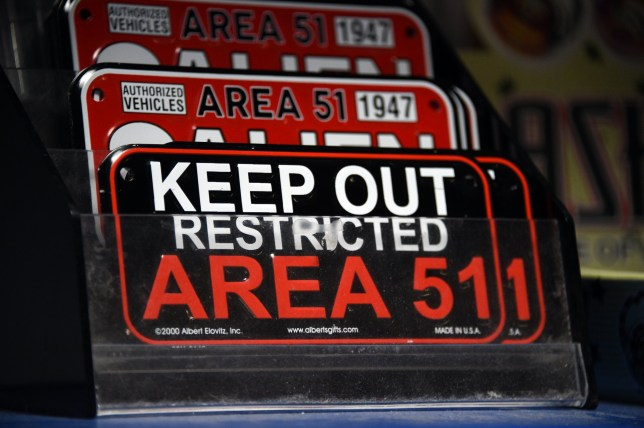 """RACHEL, NEVADA - JULY 22: Alien and Area 51 themed gifts are displayed for sale at the Little A'le'Inn restaurant and gift shop on July 22, 2019 in Rachel, Nevada. A Facebook event entitled, """"Storm Area 51, They Can't Stop All of Us,"""" which the author stated was meant as a joke, calls for people to storm the highly classified U.S. Air Force facility near Rachel on September 20, 2019, to address a conspiracy theory that the U.S. government is conducting tests with space aliens. (Photo by David Becker/Getty Images)"""