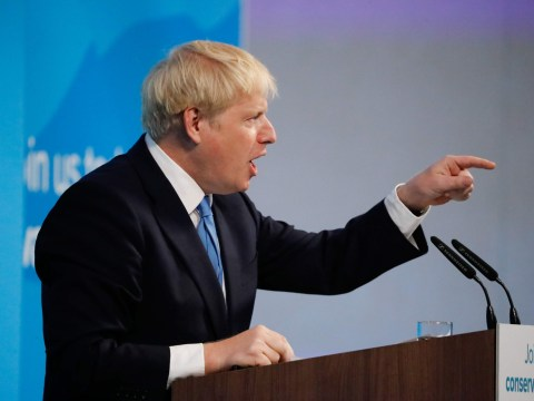 What did the next Prime Minister Boris Johnson say during his victory speech?