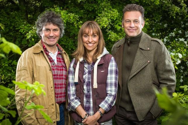 Television Programme: Springwatch 2015 Picture Shows: Martin Hughes-Games, Michaela Strachan, Chris Packham - (C) BBC - Photographer: Jo Charlesworth
