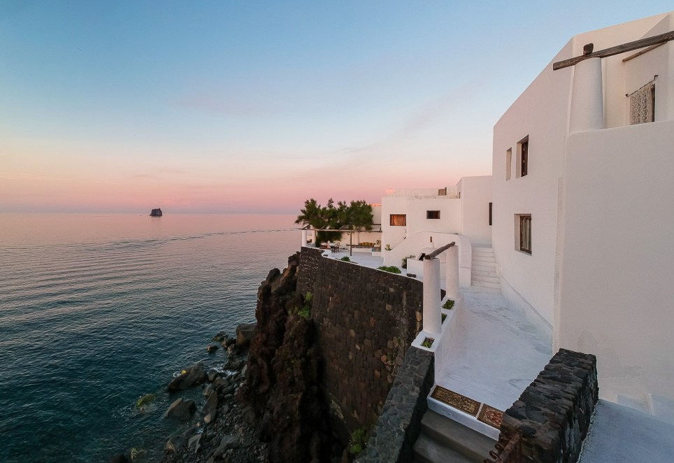 A general view of Dolce and Gabbana's villa in Stromboli, Sicily