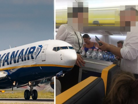 Ryanair passengers' anger at having to pay for water on delayed flight
