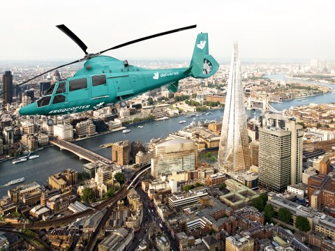 Deliveroo launches helicopter dining experience in London