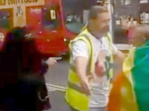 Woman shouts 'shame on you' in homophobic rant at Pride march