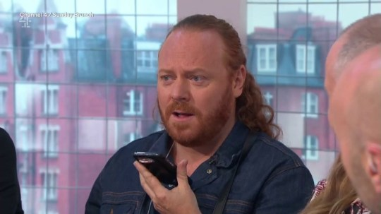 Keith Lemon gets a phone call from paddy mcguinness during sunday brunch