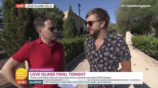 Love Island?s Iain Stirling is a fan of Maura Higgins and her ?f***y flutters? as he talks finale predictions