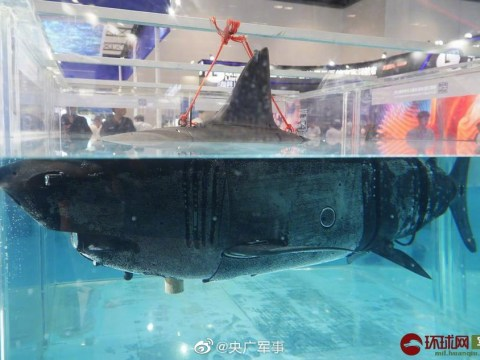 Fearsome life-size 'bionic machine shark' robot unveiled at Chinese military tech show