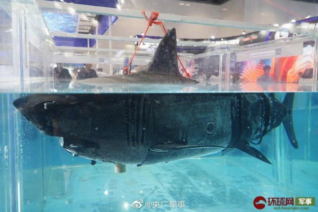 China building creepy robot bionic drone shark