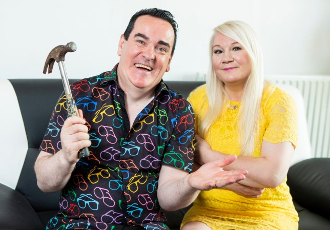 NB - Sent under embargo, no use before 14.00BST July 29 2019. Craig and Debbie Stephens, from Edinburgh. Debbie has dubbed her partner 'Britain's clumsiest husband'. See SWNS story SWTPclumsy. A long-suffering wife has dubbed her partner 'Britain's clumsiest husband' after he accidentally blew up her car, flooded their home and crashed into McDonald's. Debbie Stephens, 55, claims her husband of 24 years, Craig, 50, a business owner, has 'the best intentions', but she is at her wits end after his clumsiness has resulted in him blowing all the lights in the house and booking return tickets on the day they arrived on holiday. Despite becoming increasingly fed up with his disastrous actions, Debbie claims it's 'what makes him him' and says she wouldn't change a thing about her 'soul mate'. The mum-of-two, a business owner, from Edinburgh, Scotland, said: ???I think he's the clumsiest man in the UK ??? he's like Frank Spencer and I'm his Betty!
