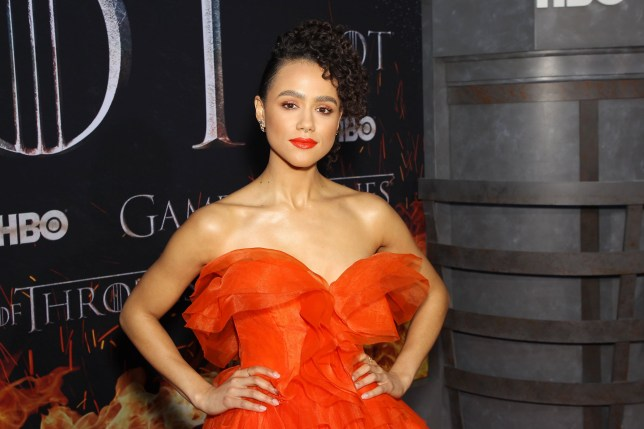 """Mandatory Credit: Photo by Marion Curtis/Starpix for HBO/REX (10186109bd) Nathalie Emmanuel New York Red Carpet Premiere for HBO's final season of """"GAME OF THRONES?, New York, USA - 03 Apr 2019"""