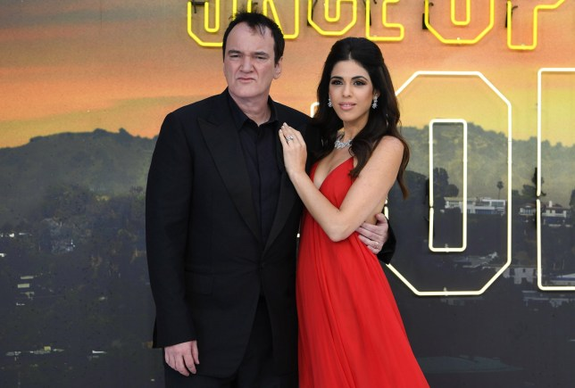 Quentin Tarantino and his wife Daniella Pick