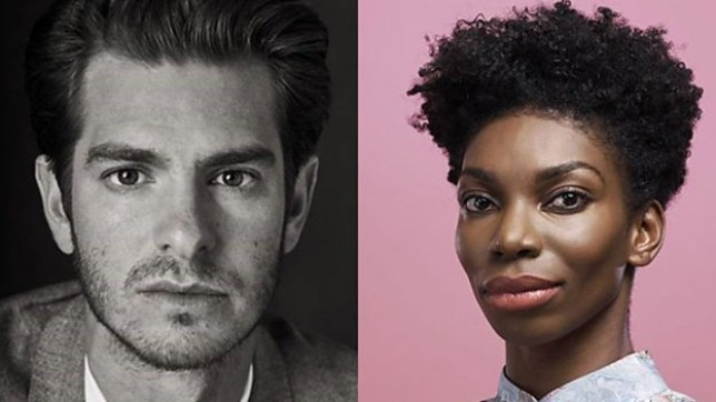 Michaela Coel and Andrew Garfield