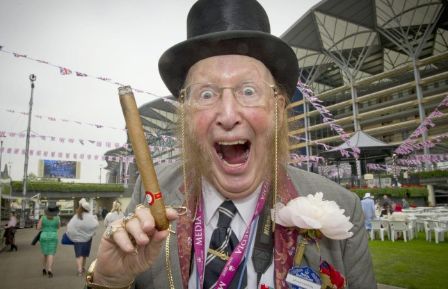 Mandatory Credit: Photo by INS News Agency Ltd./REX/Shutterstock (2589626a) John McCririck Royal Ascot race meeting, Berkshire, Britain - 18 Jun 2013