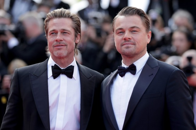 Brad Pitt and Leonardo DiCaprio at Once Upon A Time In Hollywood screening