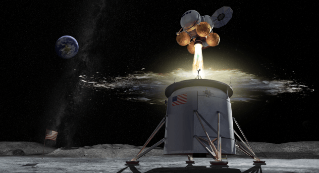 NASA will land & # 39; build to take two astronauts from and to the month (Image: Nasa)