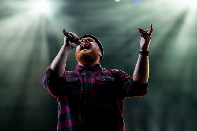 Tom Walker playing at Serbia's EXIT festival, after six shows at Glastonbury the week before