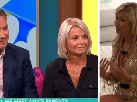 Love Island's Amy Hart's parents admit it's tough to watch Curtis Pritchard disrespect their daughter