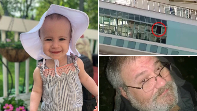 Chloe Wiegand's family's attorney have said her grandpa Salvatore Anello lifted her onto a railing of the Freedom of the Seas cruise ship mistakenly believing there was a closed window behind it
