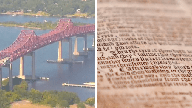 The Mathews Bridge in Jacksonville, Florida, was evacuated for 90 minutes after a driver claimed the smell of a 300 year-old Bible had made her fall ill