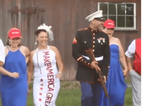 Couple who loves Donald Trump had Make America Great Again-themed wedding