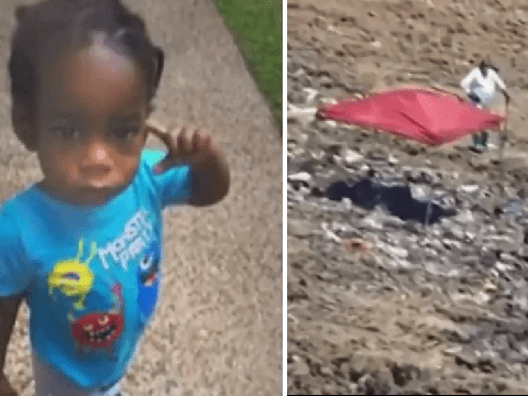Body of 18-month-old boy 'abducted from aunt's house' found dumped in landfill
