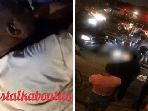 'Moment dad and vigilante mob killed thief after he stole car with kids inside'
