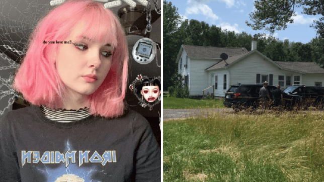 Murdered Instagram star Bianca Devin and the house in Utica, New York, where she is believed to have been murdered