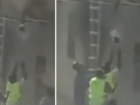 Moment hero construction workers saved baby and toddler from burning building