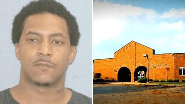 Mugshot of pedophile Kiari Riggins and file photo of Pulaski County Jail