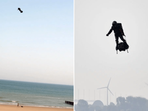 Man flying on hoverboard crashes into the Channel trying to make it to Dover
