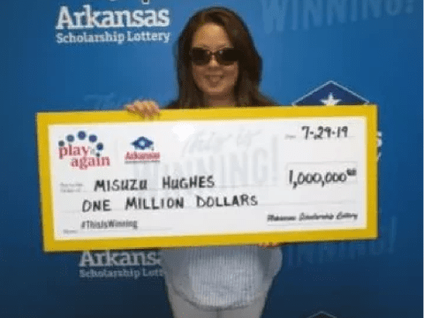 Woman wins $1million on losing lottery ticket