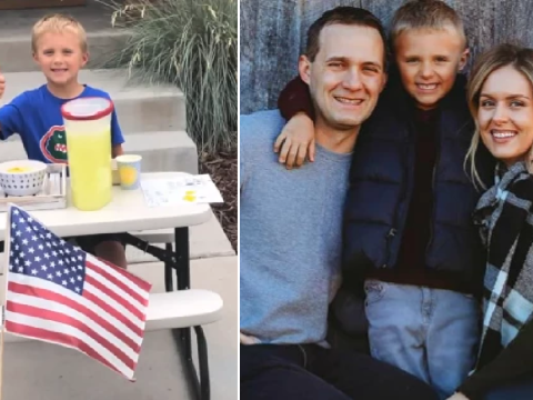 Boy, 6, starts lemonade stand to take mom on 'date' after his dad died of cancer