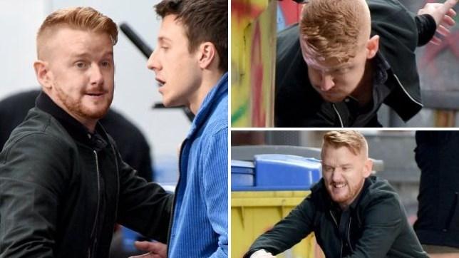Gary attacks Ryan in Coronation Street