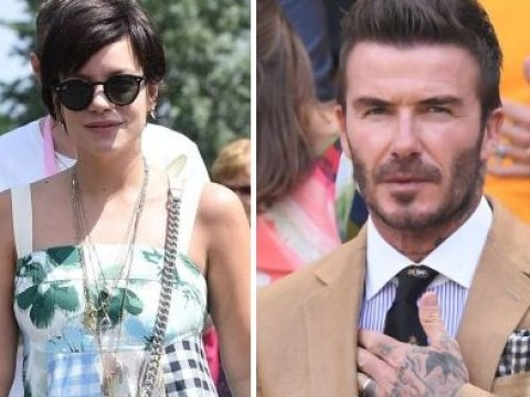 Lily Allen all smiles as she rocks up to Wimbledon with Daisy Lowe and David Beckham