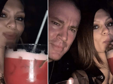 Jessie J and Channing Tatum cosy up with a cocktail for date night at Magic Mike show in London