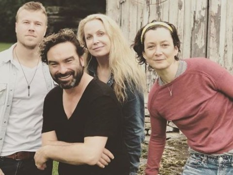 The Big Bang Theory's Johnny Galecki reunites with Roseanne co-star Sara Gilbert in adorable snaps