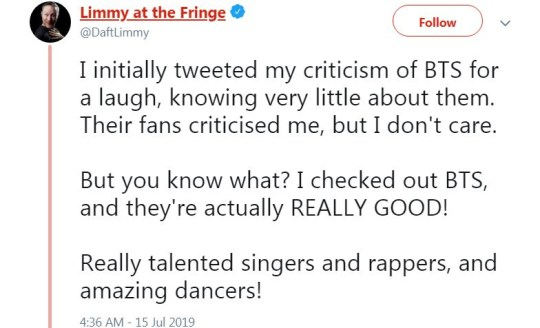 BTS ARMY vs Limmy: Comedian locked out of Twitter account