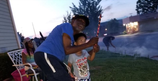 Floyd Temple's chest exploded in front of horrified children after he accidentally set a firework off outside his home in Toledo, Ohio, earlier this week