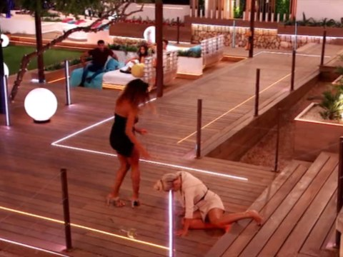 Molly-Mae Hague stacks it down Love Island stairs before offering A+ hair bun tutorial