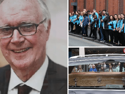 Primark staff form guard of honour at shop founder's funeral