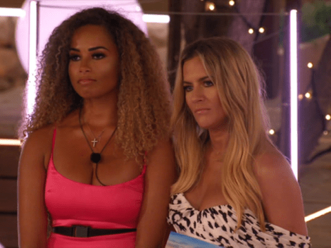 Caroline Flack's reaction to Love Island's recoupling clash between Amber Gill and Michael Griffiths is priceless