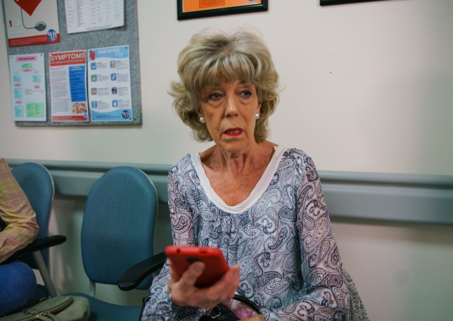 Audrey gets a shock in Coronation Street