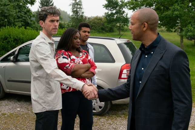 Michael Wildman (Al Chapman), Ellis Chapman's dad, returns to Emmerdale, meeting spurned wife Jessie