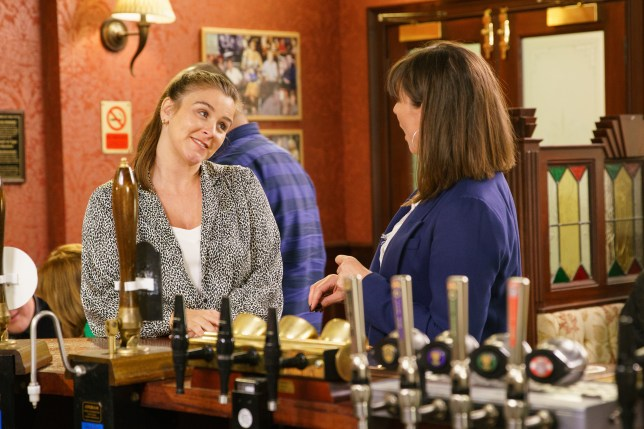 Sophie and Paula in Coronation Street