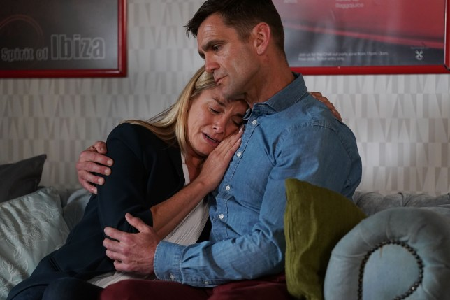 Mel cries to Jack Branning in EastEnders